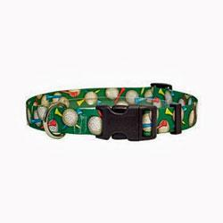 golf balls design dog collar