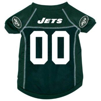 green NY sports team Jets dog jersey