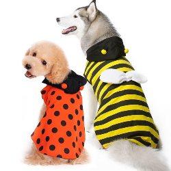Ladybug Bumblebee Reversible Dog Costume