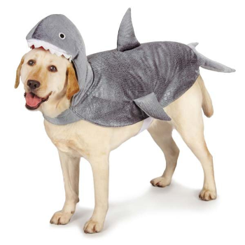 grey shark with tail and fins costume for dogs