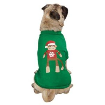 monkey holiday dog tank