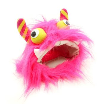 pink furry monster pet hat