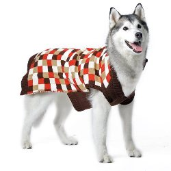 mosaic tiles on a v neck dog sweater