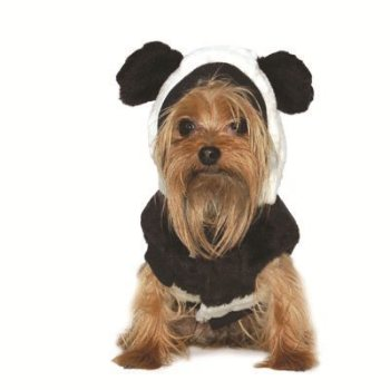 black and white hooded coat with ears Panda Coat Costume