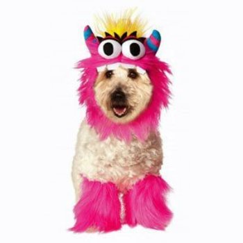 pink cookie monster dog costume