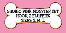 rubies pink furry monster dog halloween costume