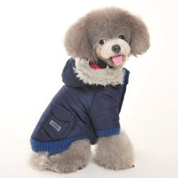 warm winter dog Parka with a pocket