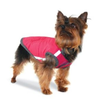 Pink Puffer light weight Dog Jacket