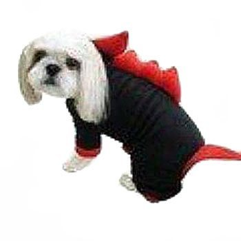 red dinosaur full body with legs dog costume