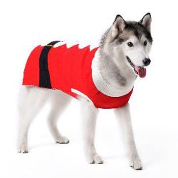 dogo santa claus red and white boy dog sweater