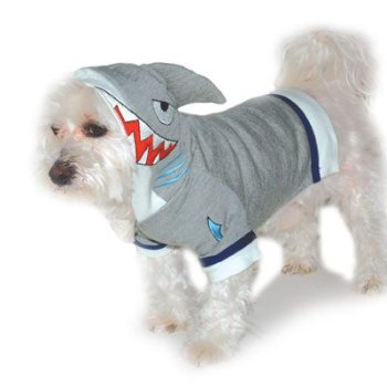 shark Sweatshirt costume in grey for dogs