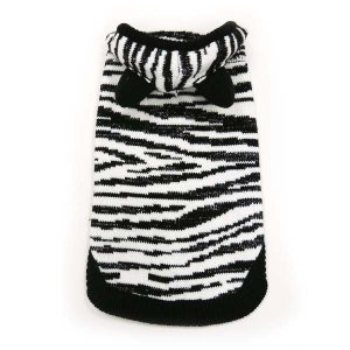 Silvery Zebra Dog Sweater