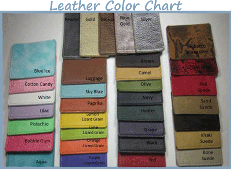 Around the Collar Leather Dog Sling carrier color-chart