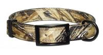 Leather Brothers Advantage Wetlands Camouflage Nylon Dog Collar with D-Ring in the front or Ring in the center.