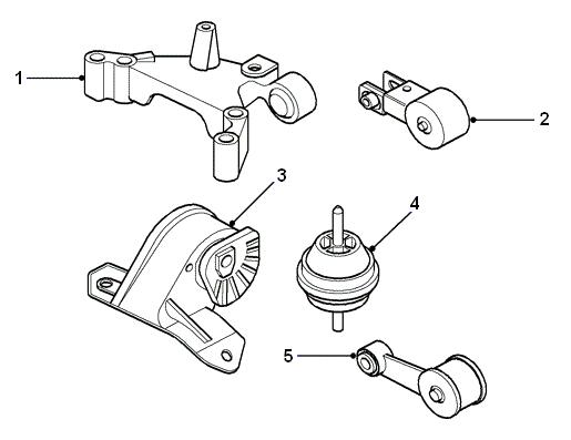 land rover parts - engne mounts