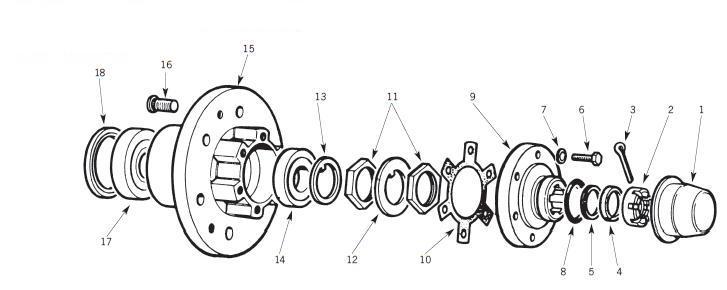 Wheel Bearing Locking Tab Washers x 10 Discovery 1 Land Rover Defender 90 110