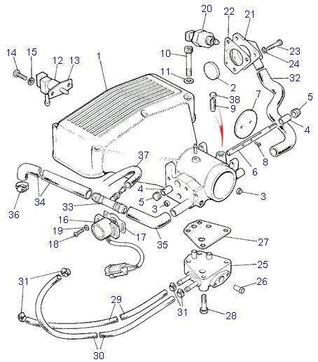 land rover parts 3 9 e f i v8 plenum chamber hoses rh roverparts com au range rover evoque engine diagram 2004 range rover engine diagram