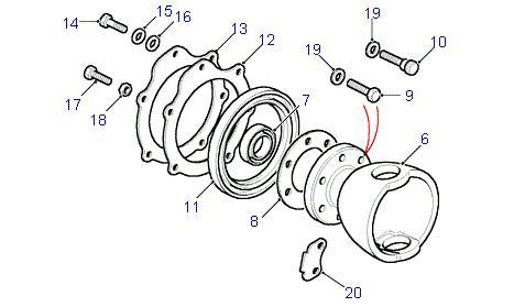 land rover parts swivel pin bearing housing defender. Black Bedroom Furniture Sets. Home Design Ideas