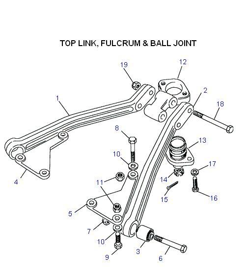 Land Rover Ball Joint Diagram