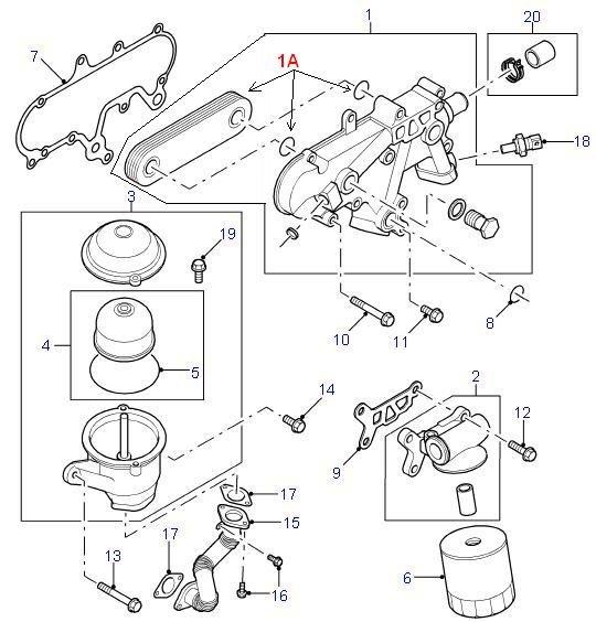 land rover parts - oil cooler  u0026 oil filter