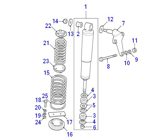 NRC5593 x 2 RNF100090L x 4 Land rover Discovery 300TDi Rear shock bush kit
