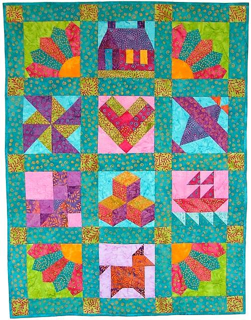 Quilt Fabric Virginia Robertson Pattern Applique Foundation
