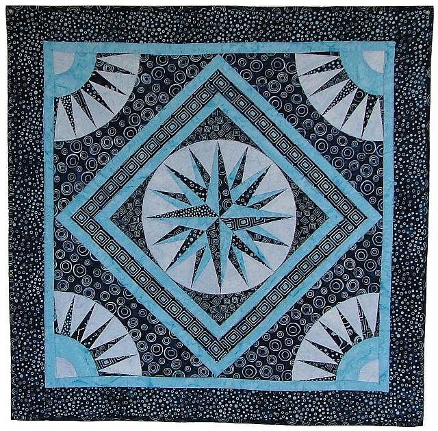 Quilt Fabric Virginia Robertson Pattern Applique Foundation Enchanting Mariners Compass Quilt Pattern