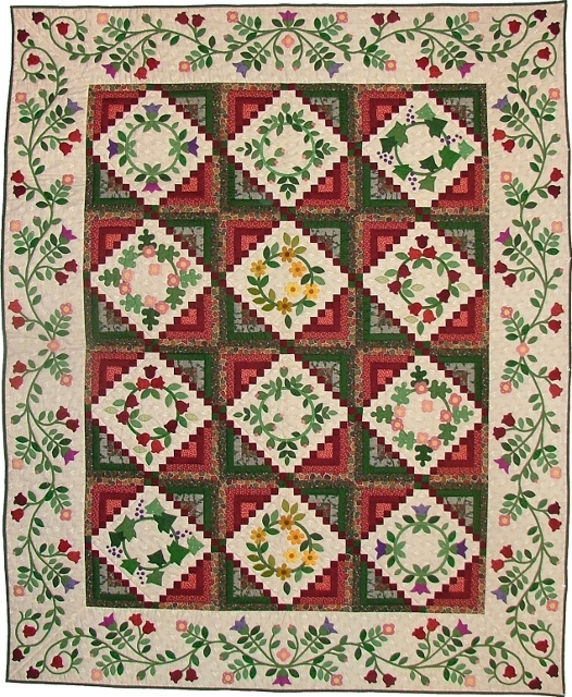 Log Cabin Wreath Pattern