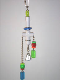 Parrot Party Small Pull-Thru with Bell Forever Bird Toy