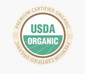 Harrisons Premium Certified Organic USDA Seal