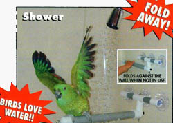 Pollys Pet Products Shower-Window Perch - shower view