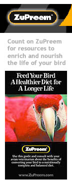 """ZuPreem """"Feed Your Bird A Healthier Diet ..."""" Brochure Cover"""
