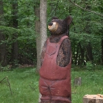 Bear in coveralls