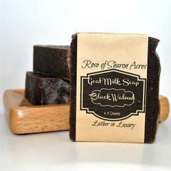 Black Walnut Goat Milk soap with Cedarwood