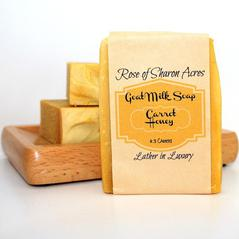 Carrot Honey Goat Milk Soap - Rose of Sharon Acres