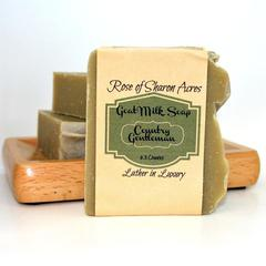 Country Gentleman Goat Milk Soap - Rose of Sharon Acres