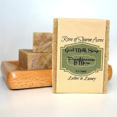 Frankincense Goat Milk Soap - Rose of Sharon Acres