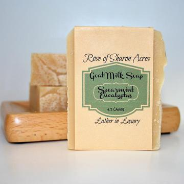 Spearmint Eucalyptus Goat Milk Soap - Rose of Sharon Acres