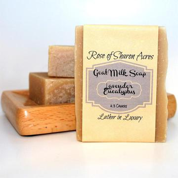 Lavender Eucalyptus Goat Milk Soap - Rose of Sharon Acres