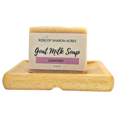 Lavender Goat Milk Soap - Rose of Sharon Acres