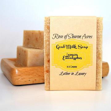 Lemon Eucalyptus Goat Milk Soap - Rose of Sharon Acres