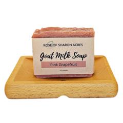 Pink Grapefruit Goat Milk Soap - Rose of Sharon Acres