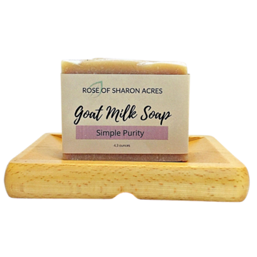 Simple Purity Goat Milk Soap - Rose of Sharon Acres