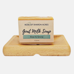 Rise N Shine Goat Milk Soap - Rose of Sharon Acres