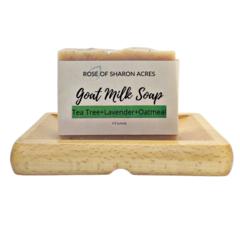 Tea Tree Lavender Goat Milk Soap - Rose of Sharon Acres