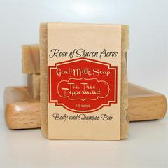 Tea Tree Peppermint Shampoo bar with goat milk