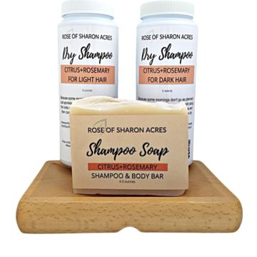 All Natural Hair Care Shampoo Bar and Dry Shampoo