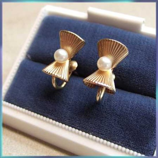 vintage earrings, pearl earrings