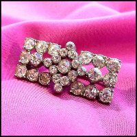 Art Deco Pin Stellar Crystal Rhinestone Brooch 1930s Antique Jewelry