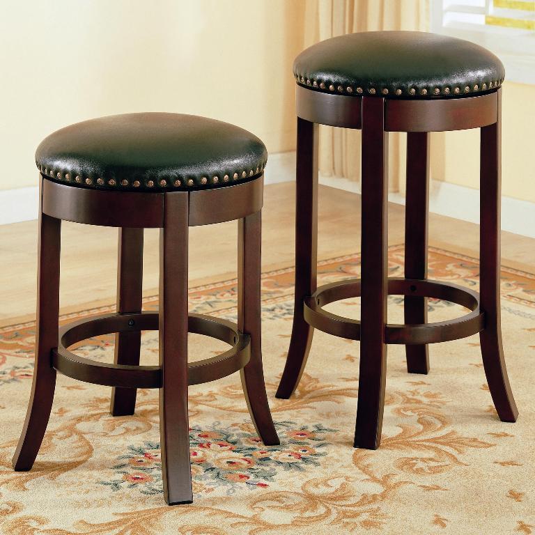 Walnut Bar Stools - Backless Bar Stools - Discount Bar Stools - LaPorta Furniture - Discount Online Furniture Store